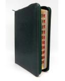 Közepes Biblia - Olajzöld - Cipzárral - Regiszterrel (index)  - Károli Gáspár fordítása