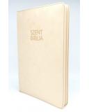 Nagy Biblia - Bézs Bársony - Cipzárral - Regiszterrel (index)  - Károli Gáspár fordítása