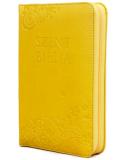 Mini Biblia - Napsárga - Virágmintás - Cipzáros - Károli Gáspár fordítása