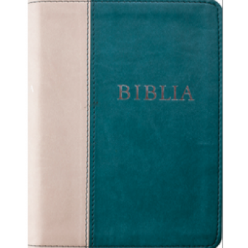 Biblia Rev. új ford (RÚF 2014), középméret, puhatáblás, varrott, zöld