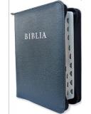 Biblia (RÚF 2014), középméret, bőrkötés, cipzár, regiszter ( index.)