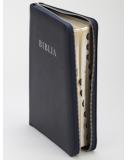 Biblia (RÚF 2014), nagy méret, bőrkötés, cipzár, regiszter ( index )
