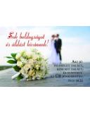 Minikártya - Esküvő   Péld 18,22